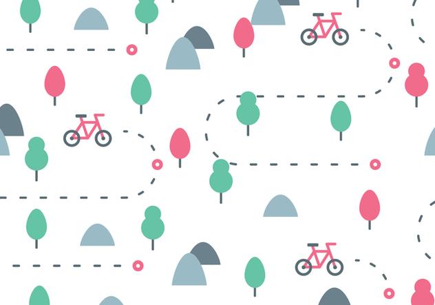 Bike Trail Pattern - Free vector #422079
