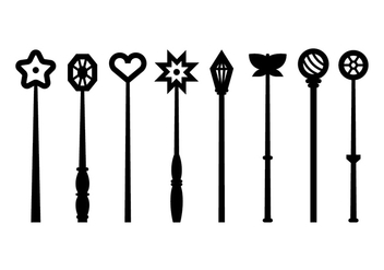 Magical Stick Icons - vector #422229 gratis