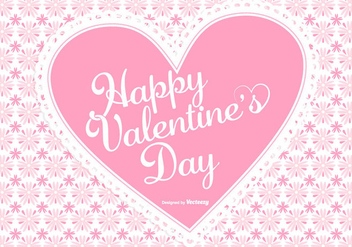 Cute Pink Valentine's Day Background - vector #422499 gratis