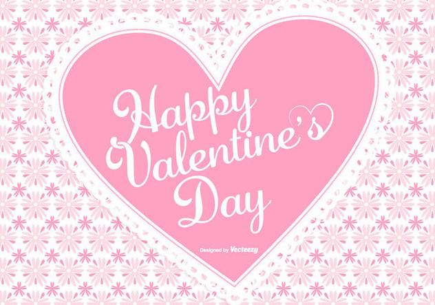 Cute Pink Valentine's Day Background - vector #422499 gratis