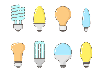 Free Set of Bulbs Vector - vector gratuit #422509