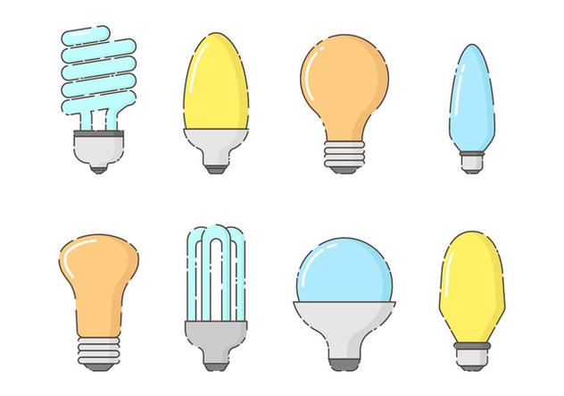 Free Set of Bulbs Vector - vector #422509 gratis