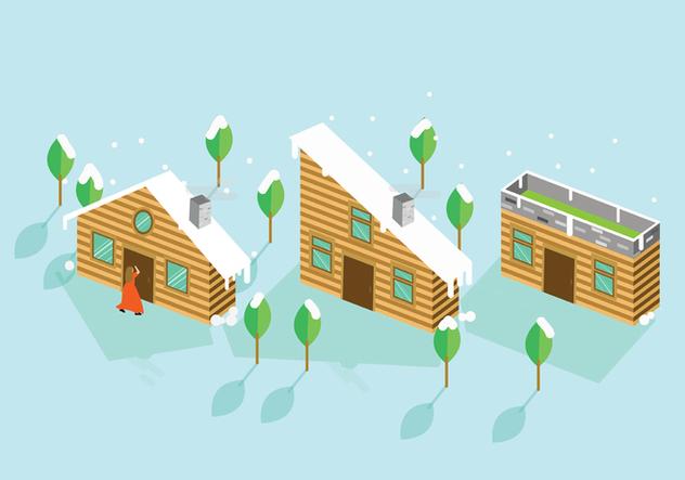 Chalet Wooden House - vector #422519 gratis