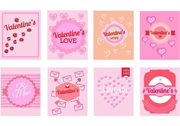 Free Valentine's Day Greeting Cards Vector - vector #422529 gratis