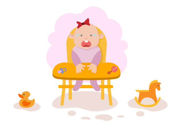 Free Crying Baby Illustration Vector - vector #422539 gratis