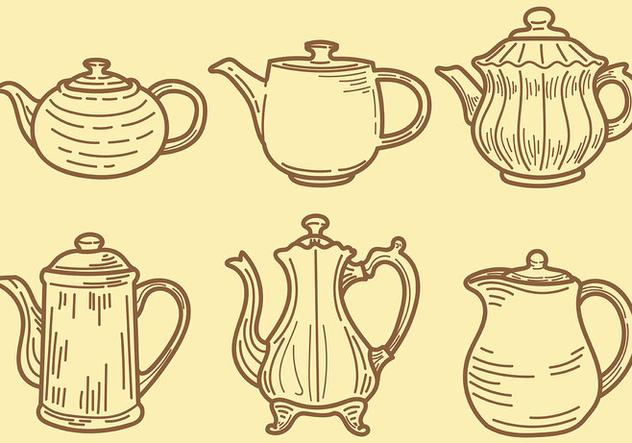 Sketchy Teapot Icons Vector - vector #422549 gratis