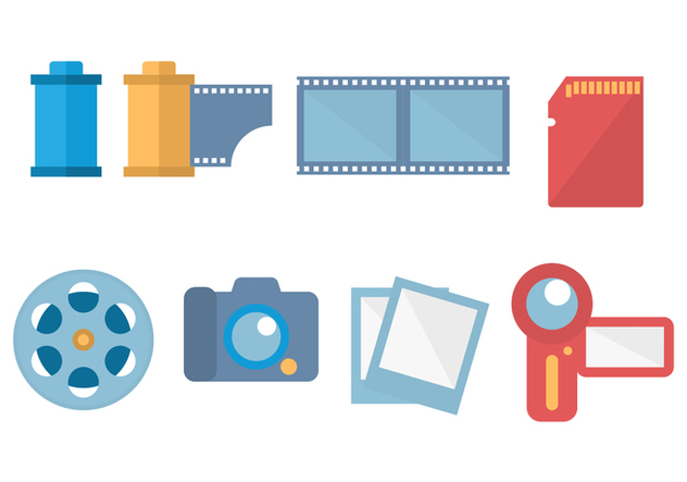 Free Digital Camera and Film Canister Vector - Free vector #422569