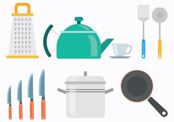 60s Style Cocina Icons Vectors - vector gratuit #422579