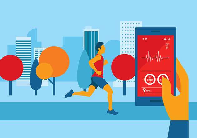 Heart Rate Apps Free Vector - Free vector #422649