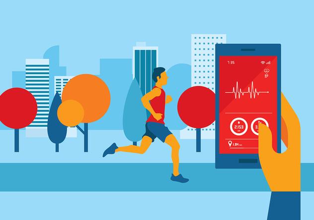 Heart Rate Apps Free Vector - vector #422649 gratis
