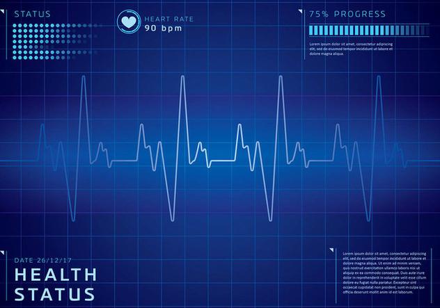 Detailed Heart Rate Background Free Vector - vector #422659 gratis