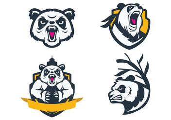 Free Pandas Mascot Vector - Free vector #422889