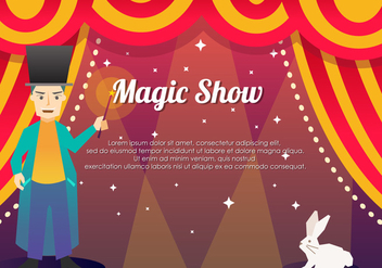 Magic Show Template Background - Free vector #422969