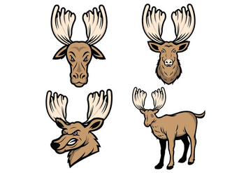 Free Moose Mascot Vector - бесплатный vector #423219