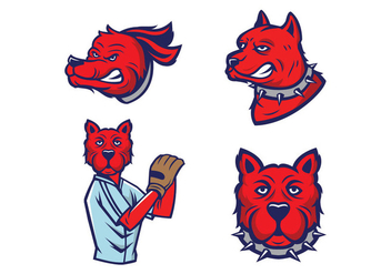 Free Dogs Mascot Vector - Free vector #423229