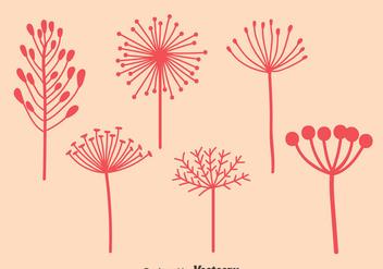 Pink Dandelions Vectors - Free vector #423479