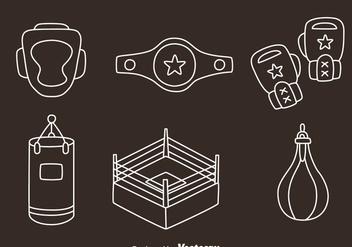 Boxing Element Line Vectors - Free vector #423509