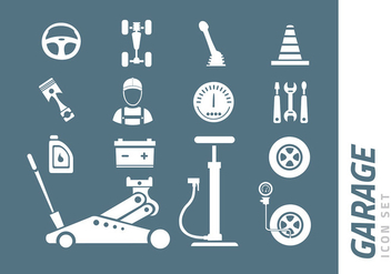 Garage Icon Set - vector #423539 gratis
