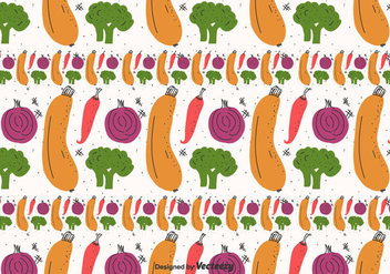Flat Vegetables Pattern Vector - бесплатный vector #423659