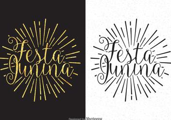Festa Junina Calligraphy Lettering Vector - vector #424079 gratis
