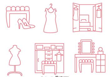 Dressing Room Line Vectors - Kostenloses vector #424219