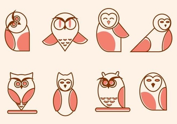 Flat Owl Vectors - Free vector #424329