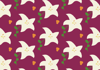 Easter Lily Pattern Background - vector gratuit #424609