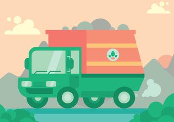 Garbage Truck Vector Set - Kostenloses vector #424729