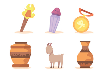 Ancient Greek Vectors - Free vector #424739