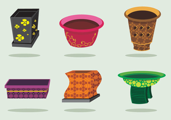 Unique Planters Vector - Free vector #424859