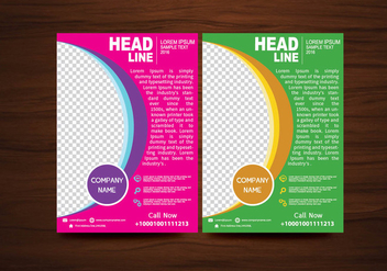 Vector Brochure Flyer design Layout template in A4 size - Kostenloses vector #424959