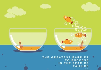 Fly Fish and Success Concept Vector - Free vector #425049