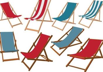 Deck Chair Vectors - vector #425109 gratis