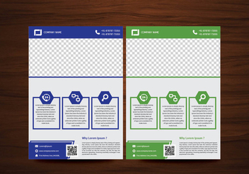 Vector Brochure Flyer design Layout template in A4 size - Free vector #425139