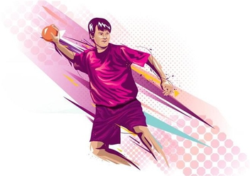 Abstract Dodgeball Player Background - Free vector #425299