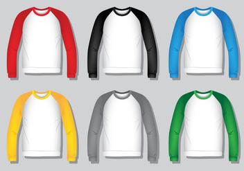 Raglan Shirt - Realistic - Free vector #425379