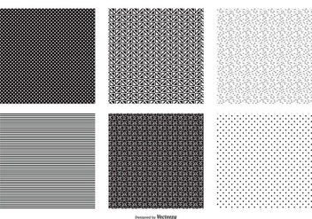 Seamless Black and White Vector Patterns - Free vector #425399