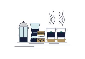 Free Take Off Coffee Vector - бесплатный vector #425459