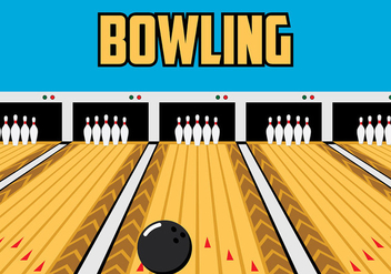 Bowling Lane Vector - Kostenloses vector #425669