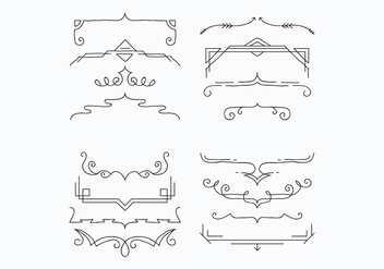 Brackets For Decoration Vectors - vector gratuit #425739