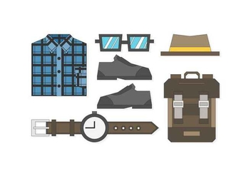 Free Sleek Hipster Men Outfits Vectors - бесплатный vector #425779