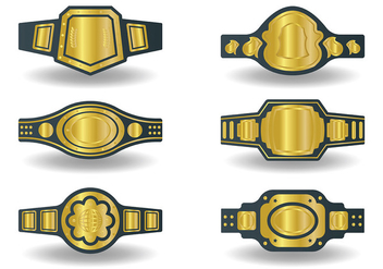 Free Championship Belt Icons Vector - Kostenloses vector #425809