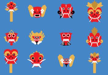 Barong Mask - Free vector #425819