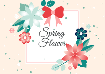 Free Flower Vector Greeting Card - Free vector #425889