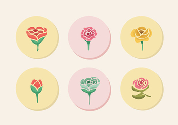 Camellia flowers color icon silhouette - Free vector #426109