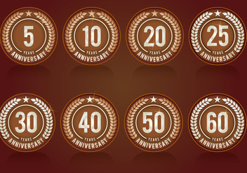 Anniversary Symbols Collection - Free vector #426149