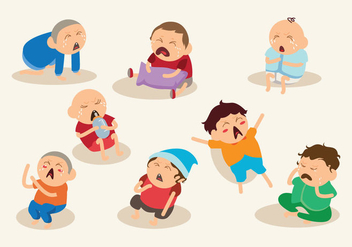 Cartoon Crying Baby Vector - Free vector #426269