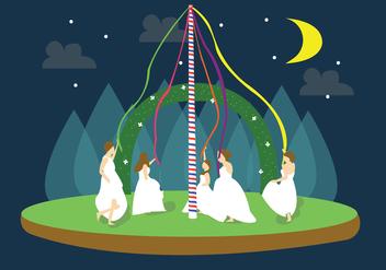 Maypole Brides Vector - Free vector #426359