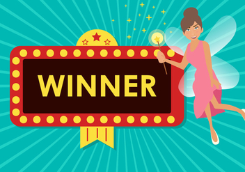 Fairy Winner Jackpot Vector - vector gratuit #426399