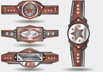 Silver Bronze Championship Belt Vector Design - vector #426469 gratis